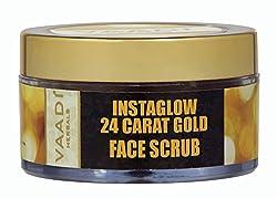 Vaadi Herbals 24 Carat Gold Scrub, Sandalwood and Turmeric, 50g
