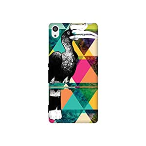 The Racoon Grip The Hornbill Fractal hard plastic printed back case / cover for Sony Xperia Z3