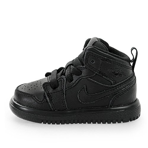 Nike Infants Jordan 1 Mid Flex (TD) Black/Black/Black Basketball Shoes 5 Infants US
