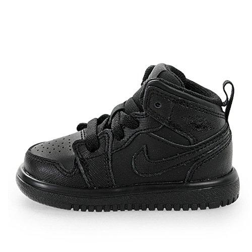 Nike Infants Jordan 1 Mid Flex (TD) Black/Black/Black Basketball Shoes 5 Infants US