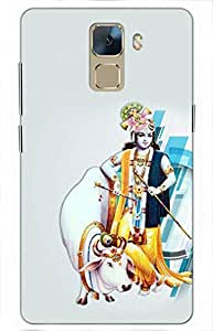 iessential krishna Designer Printed Back Case Cover for Huawei Honor 7