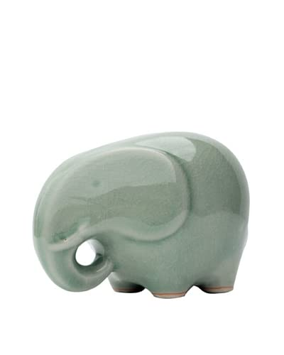 Asian Art Imports Celadon Elephant, Green