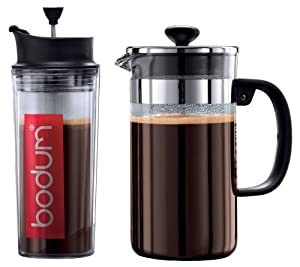 Bodum Shin Bistro Coffee and Travel Press Set