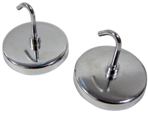 Images for IIT 90372 2-Inch Magnetic Hooks - 2 Piece Set