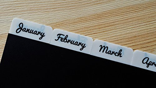 tabs-monthly-stick-on-calendar-tabs-white