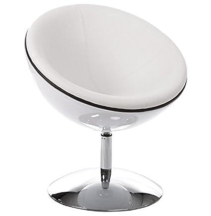 Poltrona a tazza, bicolore, di design, colore: bianco