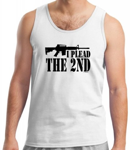 I Plead The 2Nd Tank Top Xl White