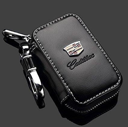 cadillac-black-premium-leather-car-key-chain-coin-holder-zipper-case-remote-wallet-bag