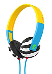 Skullcandy Uproar SCS5URHT-493 On Ear Headphones with TapTech (Yellow and Blue)