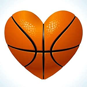 Markdowns Office Furniture Amazon.com - Vector Ball for Basketball in the Shape of Heart Peel and ...