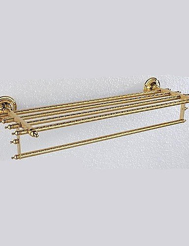 LINA@ Antique Ti-PVD Finish Brass Material Bathroom Shelves