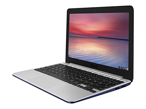 ASUS C201PA-DS02 11.6 inch Chromebook (1.8GHz Quad-Core, 4GB LPDDR3, 16GB SSD), Navy Blue