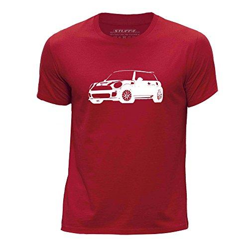 stuff4-ragazzi-eta-9-11-134-146cm-rosso-girocollo-t-shirt-stampino-auto-arte-cooper-s