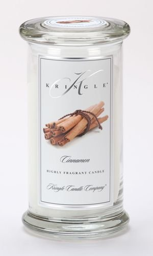 Kringle Candle Company Large Classic Apothecary Jar - Cinnamon