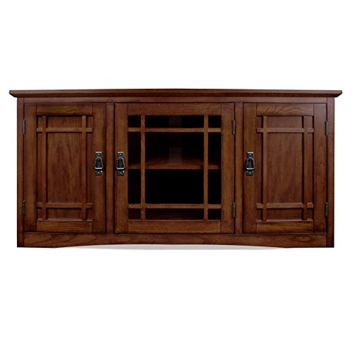 leick riley holliday mission tall tv stand 50 inch oak furniture entertainment centers stands. Black Bedroom Furniture Sets. Home Design Ideas