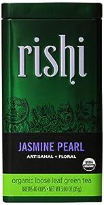 Rishi Tea Organic Jasmine Pearl Loose Leaf Tea, 3 Ounce Box (Pack of 2)