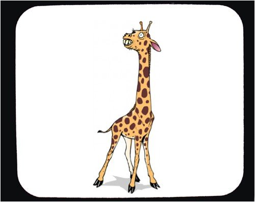 Mouse Pad with afraid, animal, giraffe - Buy Mouse Pad with afraid, animal, giraffe - Purchase Mouse Pad with afraid, animal, giraffe (SHOPZEUS, Office Products, Categories, Office Supplies, Desk Accessories)