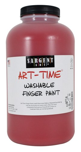 Sargent Art 22-9520 32-Ounce Art Time Washable Finger Paint, Red