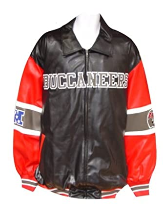 Tampa Bay Buccaneers Pleather Varsity Jacket with by G-III Sports