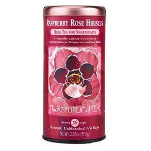 Raspberry Rose Hibiscus Tea (36 Unbleached Tea Bags) by The Republic of Tea