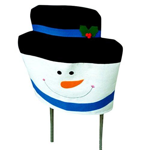 Christmas Snowman Chair Cover Set