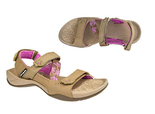 Columbia Columbia Summer Land, Infradito uomo Marrone Marrón - Brown with Pink/Red/White 5.5 UK/38 2/3 EU/7 US/24 CM