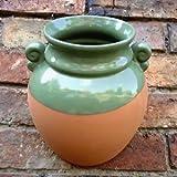 Hanging urn green glaze