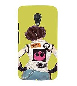 EPICCASE Trendy Girl Mobile Back Case Cover For Moto G 2nd Gen (Designer Case)