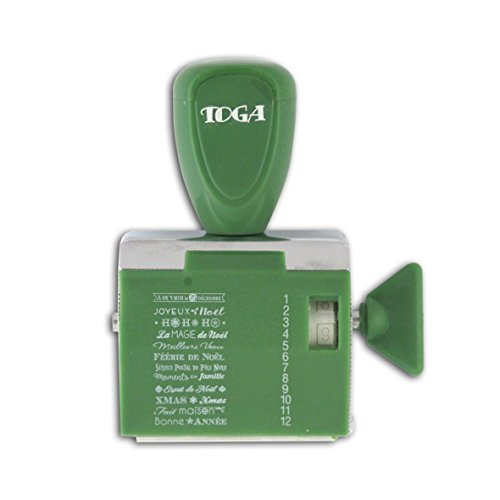 toga-tpm106-tampon-a-messages-12-expressions-noel-metal-vert-95x145x3-cm