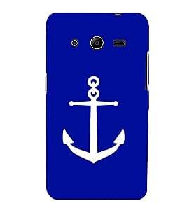 printtech Ship Anchor Back Case Cover for Samsung Galaxy Core 2 G355H