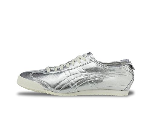 Onitsuka Tiger by Asics Unisex Mexico 66 Silver/Silver Sneaker Men's 6, Women's 7.5 Medium