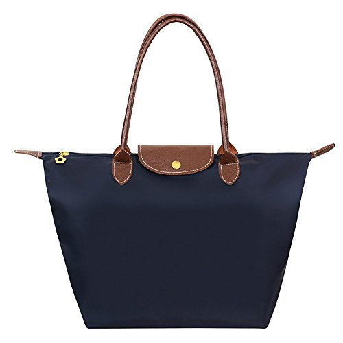Cherry Roll Women's Stylish Waterproof Tote Shoulder Bag (dark blue)