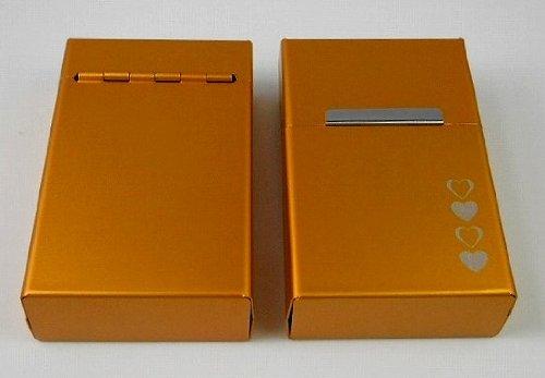 Zigarettenetui Zigarettendose in gold mit Gravur aus Aluminium mit Magnetverschluss