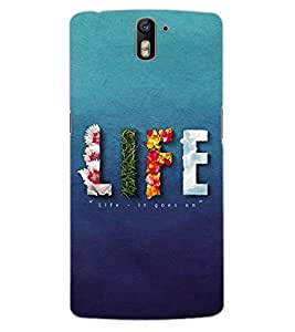 ColourCraft Quote Design Back Case Cover for OnePlus One
