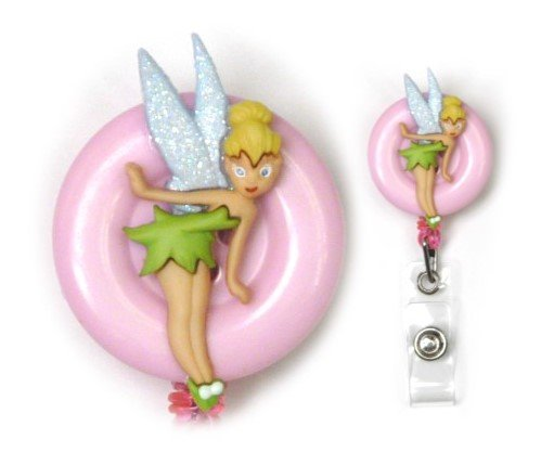 Tinkerbell Decorative Badge Holder (Pink) (B)