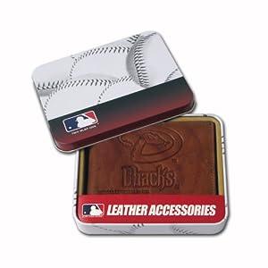 Arizona Diamondbacks Embossed Leather Bifold Wallet by Rico
