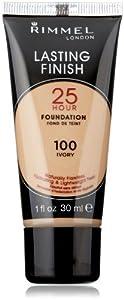 Rimmel Lasting Finish 25 Hour Liquid Foundation Ivory, 1 Ounce