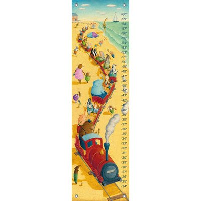 "Oopsy Daisy Growth Chart, Seaside Train Ride, 12"" x 42"""