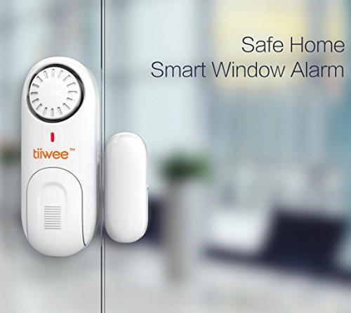 alarme de s curit tiwee 120db pour portes et fen tres piles incluses set de 2 antivol. Black Bedroom Furniture Sets. Home Design Ideas