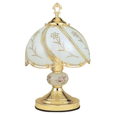 ORE International K31 Floral Table Touch Lamp