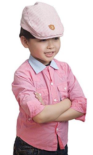 Smile-YKK-Bret-Coton-Bb-Enfant-Chapeau-de-Soleil-Casquette-Visire-Plate-Casual-Rayure