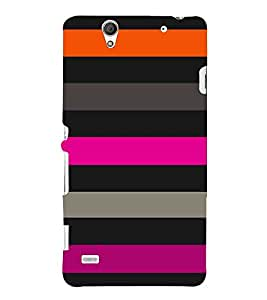 horizontal stripped multicoloured pattern 3D Hard Polycarbonate Designer Back Case Cover for Sony Xperia C4 Dual E5333 E5343 E5363 :: Sony Xperia C4 E5303 E5306 E5353