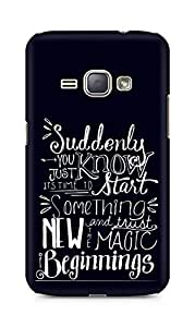 AMEZ start something new and the magic begins Back Cover For Samsung Galaxy J1 (2016 EDITION)
