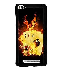 printtech Burning Poker Cards Back Case Cover for Xiaomi Redmi Mi4i , Xiaomi Mi 4i