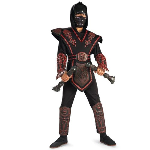 Rubies Red Skull Warrior Ninja Kids Costume - Medium