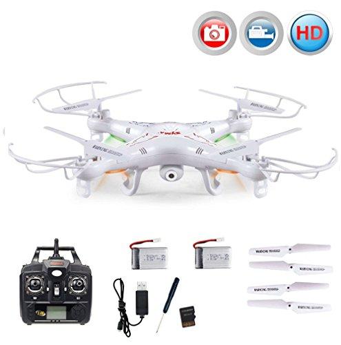 Quadrocopter X5C Explorer PRO HD-Edition, Neueste Version 4.5-Kanal RC ferngesteuerte 3D Drone 2.4GHz-Technologie inkl. HD Kamera-Set, 2x LiPo-Akku, Ersatzteil-Set, Ready-to-Fly RTF