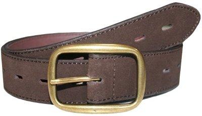 Sonoma Brown Genuine Suede Leather 1.25 Inch Belt Medium (up to 36 Waist)