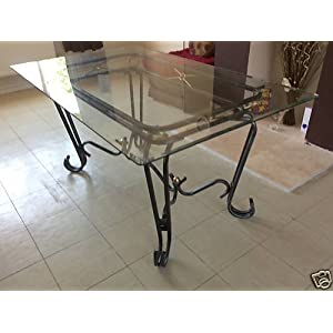 Glass Top Coffee Tables Uk Uk Best Deal New Corsica Clear Glass And Wrought Iron Dining Table