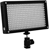 LED 312AS On Camera Bi-Color Dimmable Video Light Panel for Camera and Camcorder Lighting with Magnetic Filter