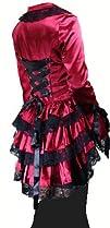 Satin Corset Bustle Lace Jacket Gothi…